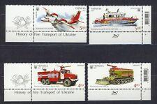 Ukraine - Feuerwehrfahrzeuge Satz postfrisch 2017 Mi.1658-1661.Eck.Rand