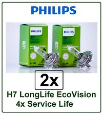 2x H7 LongLife EcoVision PHILIPS 4x Long Life eco vision 55W 12V PX26d 12972
