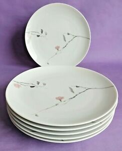Vintage Rosenthal 'Quince' 17.5cm China Side Plates x 6, by Raymond Loewy