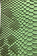 Vinyl Fabric Green Faux Viper Snake Skin Leather 4 Pieces Different Sizes