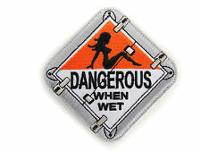 ill Gear DANGEROUS WHEN WET DOT Truck Placard Sign hook Patch MUDFLAP GIRL