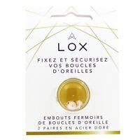 Embout Fermoir sécurisé Boucles d'oreille LOX, Aloxia. Couleur Or. 2 paires