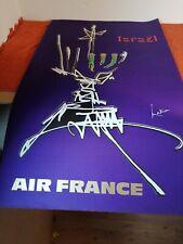 ancienne affiche - air france - israel