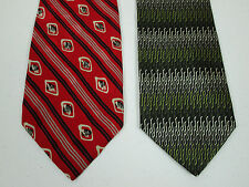 Silk Tie Lot Of 2 Necktie Louis Feraud And Covington New 3.75 x 58 Inch