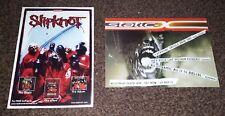 Slipknot & Static-X album promo flyers