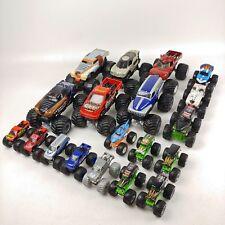 19 Hot Wheels Monster Jam Toy Truck Lot 1:64 1:24 Pull Back GRAVE DIGGER