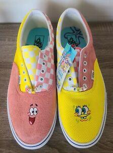 Vans X Spongebob Era Best Friends Sneakers Mens Sz 8.5