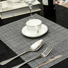 Anti-slip Placemats Dining Table Coasters Durable Tableware Mats Accessory 4 Pcs