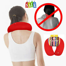 Red Microbead U Shaped Travel Pillow Neck Support Head Rest Airplane Cushion Us
