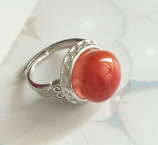 SiChuan NanHong red agate ring open adjustable vintage ring lucky stone new year