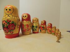 12 pieces Vintage Ussr Hand-Painted Traditional Matryoshka Nesting Doll