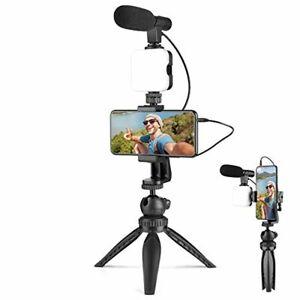 AIXPI Smartphone Camera Video Kit for Vlogging, Tripod with Shotgun Microphone,