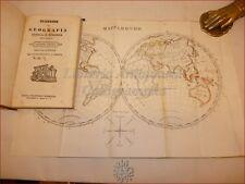 Villivà, Giuseppe: GEOGRAFIA ANTICA E MODERNA 1839 Carta Mappamondo Firma Autore