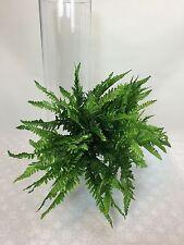 3 X Artificial Silk Small Green Boston Ferns Plant Fern Bush. cintahomedeco