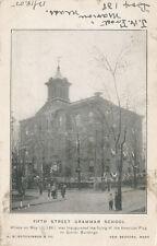 New Bedford MA * 5th St. Grammar School 1905 * American Flag 1st Flown in 1861
