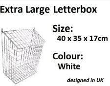 Extra Large Metal Letterbox Cage Door Letter Box Guard Basket Post Mail Catcher