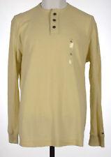 Tommy Hilfiger Mens Ivory Long Sleeves Henley Shirt XL