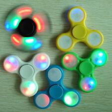 5 Pcs LED Flash Fidget Hand Tri-Spinner Focus Finger 3D EDC Ceramic Desk Gyro