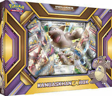 KANGASKHAN EX Collection Box POKEMON TCG Cards Evolutions Sealed 4 Booster Packs