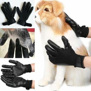 Pet Dog Cat Ninja Grooming Gloves Hair Fur Remover Bathing Shedding Massage Pair