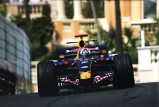 David Coulthard Firmato a Mano RED BULL RACING 18x12 foto 1.