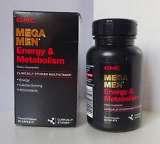 90 Caplets GNC MEGA MEN® ENERGY & METABOLISM Vitamins Supplements
