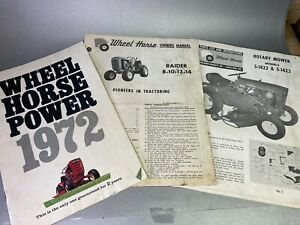 WHEEL HORSE TRACTOR Owners Manual Rotary 5-1422 1423  Raider 8 10 12 14 Catalog