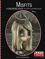 Misfits Coloring Book for Adults and Odd Children Dark Fantasy Art Single Sided