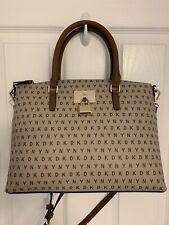 DKNY Elissa Top-Zip Satchet Bag/ Beige Brown/NWT/$178