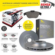 Rear Ceramic Brake Pad + Sensor and VENTED Disc Rotor Set for BMW 318i E46 98-05
