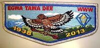 EGWA TAWA DEE OA LODGE 129 75TH ATLANTA AREA COUNCIL PATCH 2013 BSA 100TH FLAP