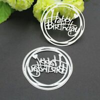DIY Carbon Steel Happy Birthday Cutting Die Embossing Stencil Template Mold xk