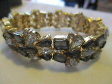 MARK Twinkle,Twinkle Stretch Bracelet Shiny Goldtone Metal/Glass &Plastic Stones