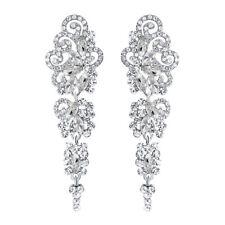 Women Long Dangle Chandelier Earrings Engagement Bridal Rhinestone Gift Dreamed
