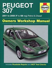 Haynes Owners Workshop Manual Peugeot 307 Petrol Diesel (01-08) Service Repair