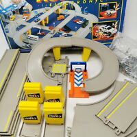 Vintage CORGI Auto City Electronic Flyover and Garage Playset With Accessories