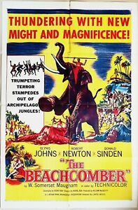 The Beachcomber 1954  Glynis Johns & Robert Newton Original US One Sheet Poster