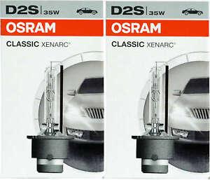 2x D2S Osram Xenon Classic bulb 35w car headlight lamp Xenarc Classic 66240CLC