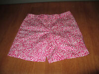 New Womens Size 8 Jones New York Fuschsia Pink White Print Stretch Shorts @@