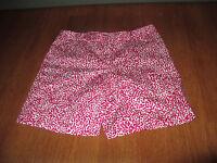 New Womens Size 8 Jones New York Fuschsia Pink White Print Stretch Shorts @@