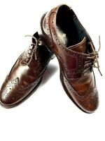 BORGO MEDICEO Mens Oxford Wing Tip Dress Leather Shoes SIze 40 (US 7) Brown