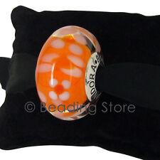 NEW Pandora Orange Blossom Oversized Large XL Murano Glass Charm Bead ALE 790751