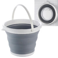 COLLAPSIBLE FOLDING SILICON PLASTIC BUCKET KITCHEN CAMPING GARDEN WATER CARRIER