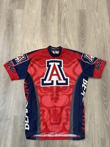 ADRENALINE Cycle Jersey BIKE Shirt Size Medium University Of Arizona WILDCATS