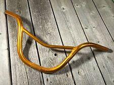 OLD SCHOOL BMX GOLD ALLOY HANDLEBARS V BARS FITS WIN GT HARO HUTCH REDLINE DK