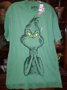 NWT GRINCH Green Shirt Large