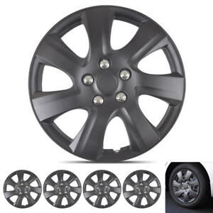 """4 PC Snap-On Black Hubcaps for Toyota Camry 2006-2014 Style 16"""" OEM Replacement"""