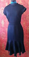 Zara Asymmetric Flared Hem Sheath Dress. Black. Size Large. Fits Medium