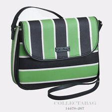 Authentic Vera Bradley Lucky Stripe Flap Faux Leather Crossbody 14478-267