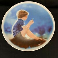 "Viletta Plate ""Erik and Dandelion"" - First Plate in Series"